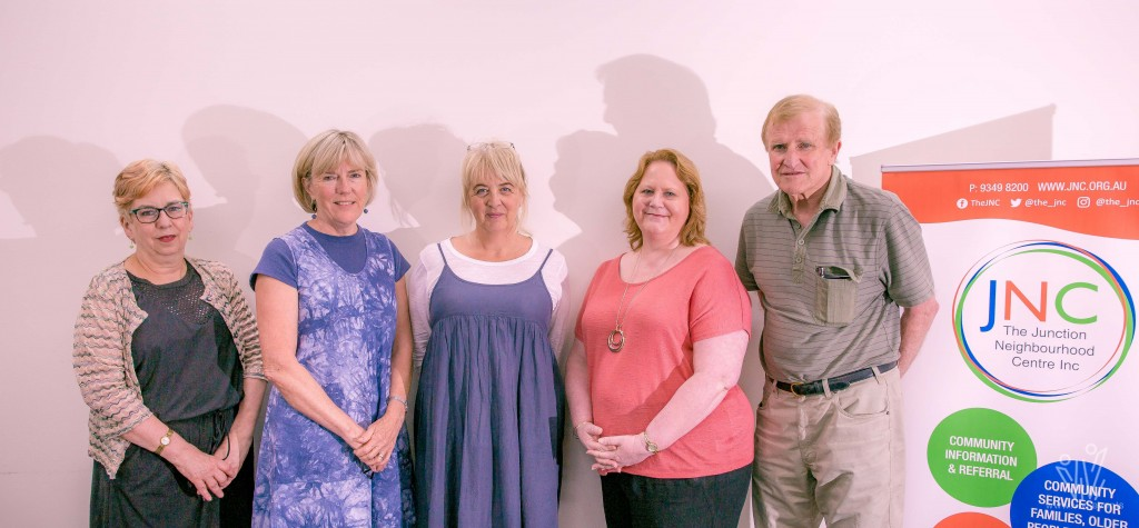 From L to R: Janet Green, Robyn Alexander, Gillian Elliot, Vicki Johnston and Bob Davidson.