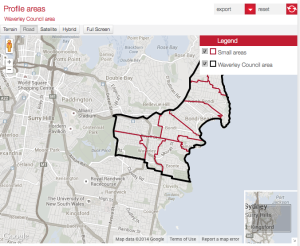 The JNC has linked vital statistics from Randwick and Waverley Council websites.