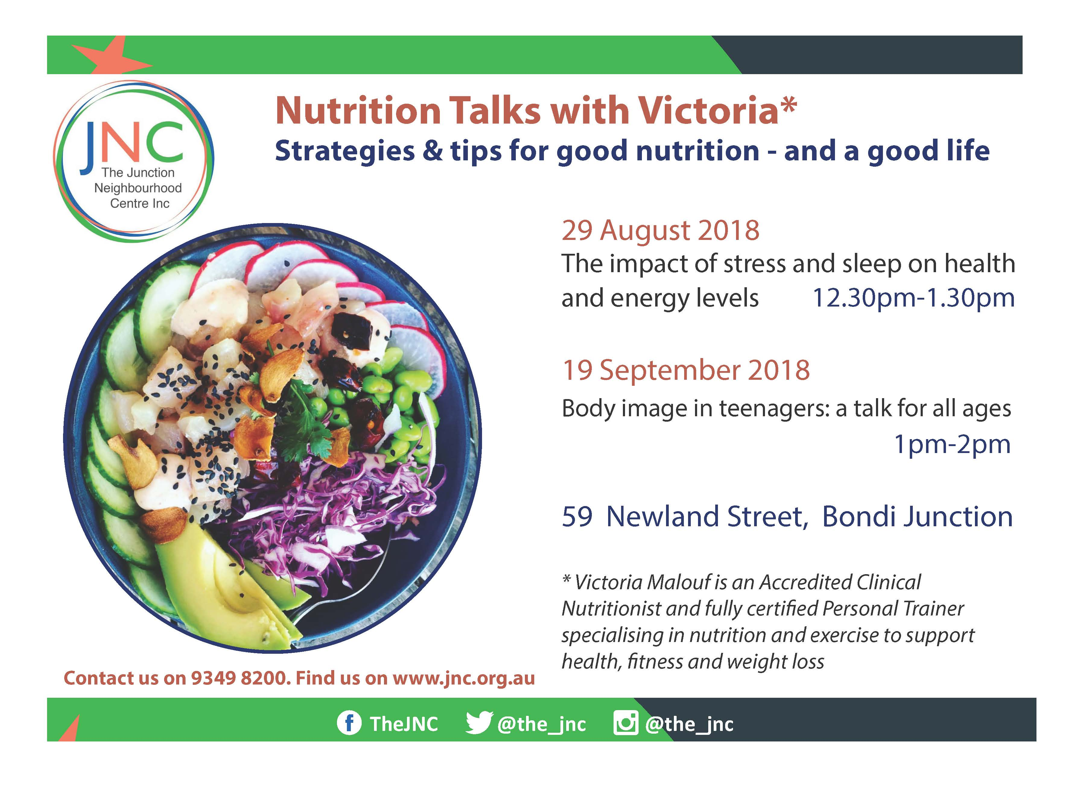 Food, exercise and mood - Junction Neighbourhood Centre