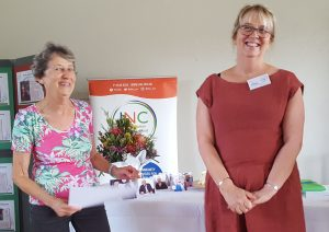 Janet Kidson, JNC Treasurer, and Gillian Elliott, JNC Chair, at the JNC's 45th birthday celebrations
