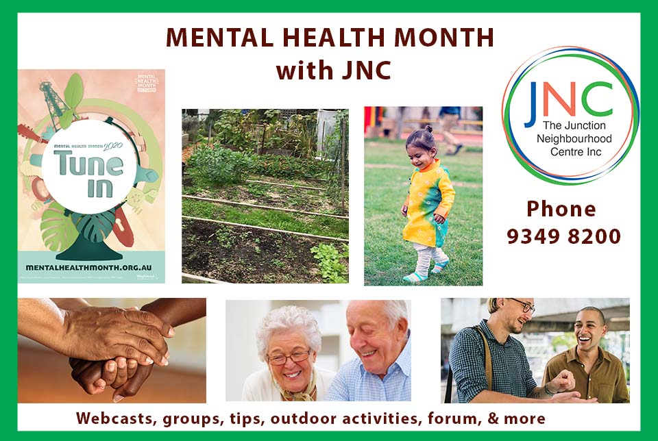 poster for Mental Health Month with JNCMonth