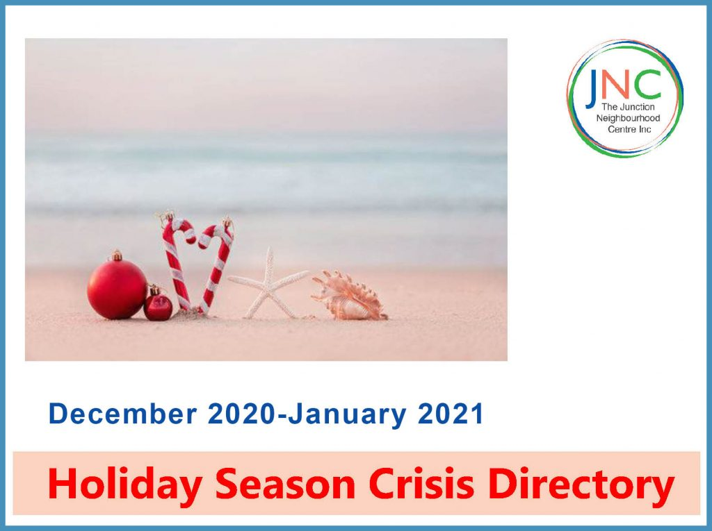 cover of JNC's holiday season crisis assistance directory