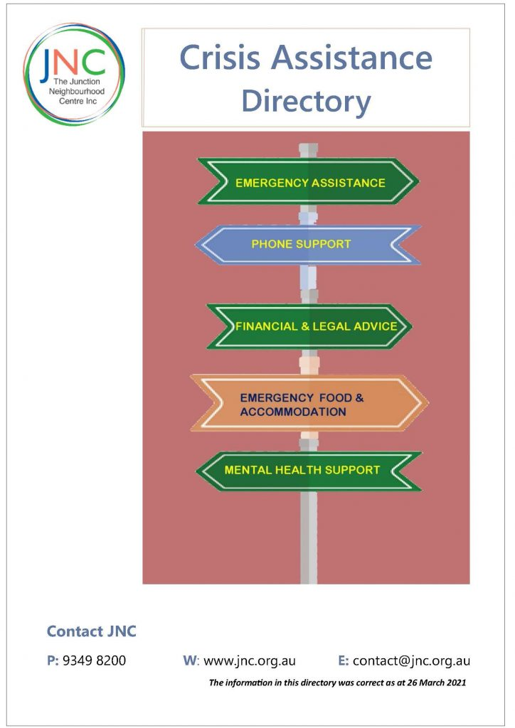 crisis directory cover